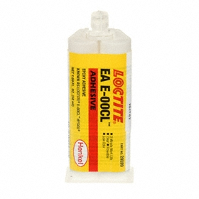 Loctite Hysol E-00CL Fast Setting Epoxy Adhesive: Ceramic/Metal/Plastic Bonded, 1.69 fl oz Size, Cartridge, 3 min, Clear