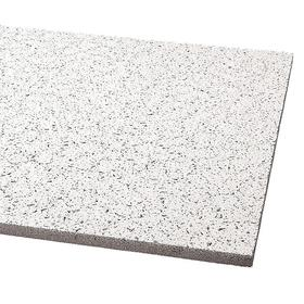 General Purpose Ceiling Tile: 96 sq ft Coverage, 48 in Overall Lg, 24 in Overall Wd, Square, Mineral Fiber, White, 12 PK