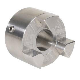 Jaw Flexible Coupling Hub: Inch, Stainless Steel, 3 11/32 in OD, 4 23/100 in Overall Lg, 1 1/2 in Bore Dia
