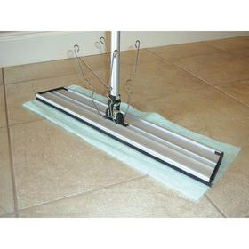 O'Dell Dust Mop Frame: Quick Connect, 24 in Frame Lg, 4 in Frame Wd, Spring Clip, Silver, 18 Haz Material Indicator