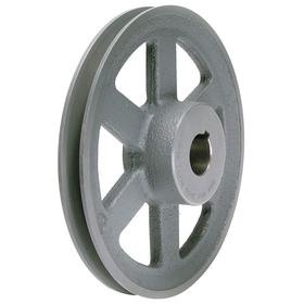 V-Belt Pulley: 4L/5L/A/AX/B/BX Belt Section Size, For A-Section (4L, A & AX) & B-Section (5L, B & BX), 1 1/8 in Bore Dia, Spoked