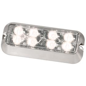 Code 3 Exterior Vehicle Warning Light: Rectangle, White, 5 in Overall Lg, 2 in Overall Ht, 24.0 V DC Volt, Aluminum