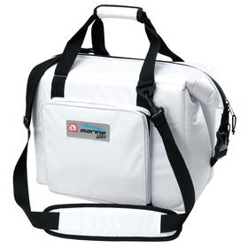 Antimicrobial Cooler Bag: Antimicrobial Bag, 7 1/2 gal Capacity, 36 Can Capacity, Plastic, 17 in Exterior Lg, White