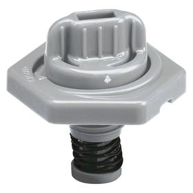 Vent for Rectangular Container: Gray, 15 L Max Container Size, 1 1/2 in Overall Ht, 2 in Top Cap OD
