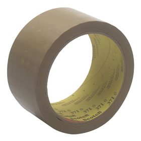 3M Scotch 371 Packaging Tape: Polypropylene Backing, For Lightweight Cartons, Hot Melt Adhesive, 48 mm Overall Wd
