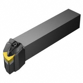 Sandvik Coromant Indexable Turning Toolholder: 5/8 in Shank Wd, 5/8 in Shank Ht, 4 1/2 in Overall Lg, 95° Side Cutting Edge Angle