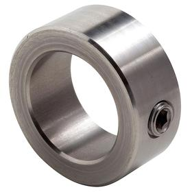 Climax Metal Set Screw Shaft Collar: Inch, Stainless Steel, 5/8 in Bore Size, 1 1/8 in OD, 1/2 in Overall Wd, Round