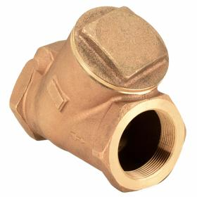 Check Valve: NPT, Bronze, Horizontal, 3 in Size, 240 gpm Max Flow Rate, 0.5 psi, 200 psi Max Water Pressure