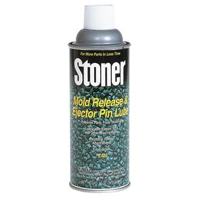 Stoner Mold Release Lubricant: 12 oz Container Size, Aerosol Can, Plastic, 0° F Min Op Temp, 400° F Max Op Temp, Clear