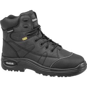Leather Work Boot: Metatarsal Guard, D Shoe Wd, 6 Women's Size, Women, Composite, 6 in Shoe Ht, Black, Internal, 1 PR
