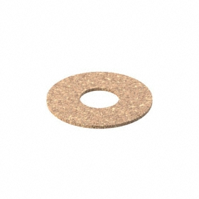 Flat Sealing Washer: Cork Rubber, For 3/4 in Screw Size, 0.75 in ID, 2 in OD, 0.0625 in Thickness, 5 PK