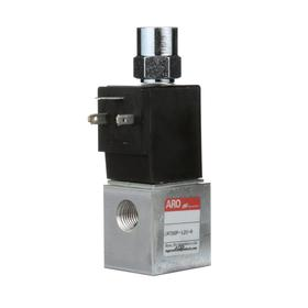 Ingersoll Rand Solenoid Valve: Body Ported Body, Direct, Solenoid/Spring, 2 Positions, 1/4 in Pilot Port Size, 6.9 cfm Max Air Flow, 3 Ports