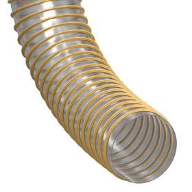 Vacuum Hose: 6 in Hose ID, 50 ft Overall Lg, Polyurethane, Clear & Yellow, 6.5 in Bend Radius, 25 psi Max Op Pressure