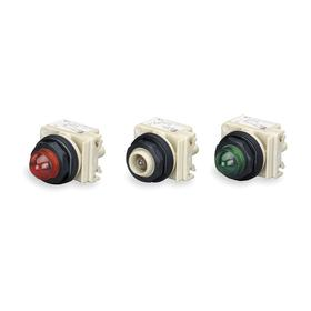Schneider Electric Pilot Light without Lens: 120V AC, Transformer, For Incandescent, Metal, Pressure Plate