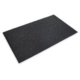 3M Entrance Mat: Oil Resistant, Rectangle, 4 ft Wd, 6 ft Lg, 1/2 in Thickness, Black, Coiled Loops, Vinyl, Beveled