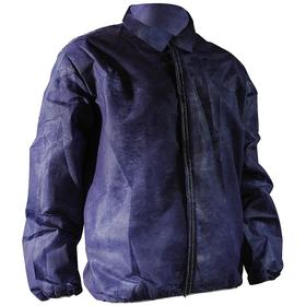 Disposable Lab Jacket: Blue, XL Size, Polypropylene, Hook & Loop, 0.09 oz Material Wt, 50 PK