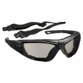 Radians Safety Glasses: Gray Mirror, Full Frame, Anti-Fog/Scratch Resistant, Black, ANSI Z87.1, Nylon, Unisex