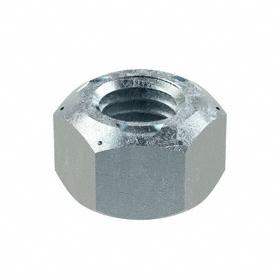 Distorted Thread Locknut: Steel, Zinc Plated, M12 Thread Size, 19 mm Wd, 12 mm Ht, 25 PK