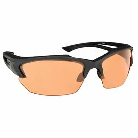 Edge Safety Glasses: Orange, Half Frame, Anti-Fog/Scratch Resistant, Black, ANSI Z87.1+2015/MCEPS GL-PD 10-12, Nylon