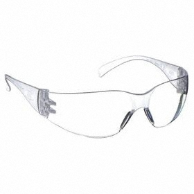 3M Safety Glasses: Frameless Frame, Clear, Uncoated, ANSI Z87.1-2010/CSA Z94.3-2007