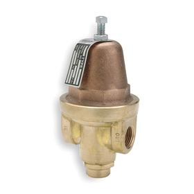 Pressure Regulator: Brass, NPT, 3/8 in Inlet Size, 70 psi Max Pressure Adjustment, 20 psi Min Pressure Adjustment, 2 1/2 in Overall Lg
