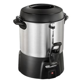 Coffee Maker: 40 Cup Capacity, 200 fl oz Max Brewing Capacity, Aluminum, 13 1/2 in Overall Ht, 11 1/2 in Overall Wd