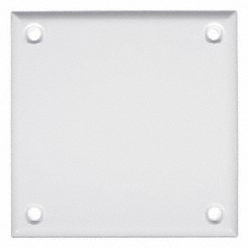 Blank Wall Plates: Square, White, ABS, Std Plate Size