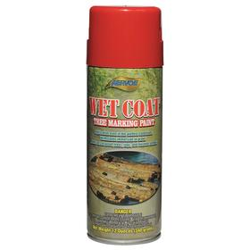 Aervoe Tree Marking Paint: Aerosol Can, Red, 10 min Dry Time, 1.91 sq ft/oz, 16 fl oz Container Size, Exterior, Solvent