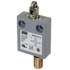 Roller Plunger Miniature Limit Switch: Zinc, 1NO/1NC Pole-Throw Configuration, Stainless Steel, 3.56 in Overall Ht