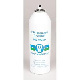 Miller-Stephenson Dry Film Lubricant: PTFE, 12 oz Container Size, Aerosol Can, -105° F Min Op Temp, 580° F Max Op Temp, White