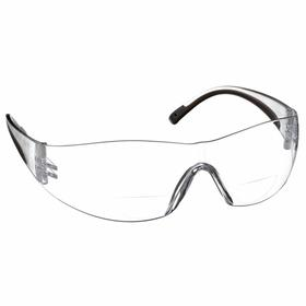 PIP Bifocal Safety Reading Glasses: Clear, Frameless Frame, Scratch Resistant, Clear/Gray, ANSI Z87.1, Polycarbonate, Construction/Manufacturing