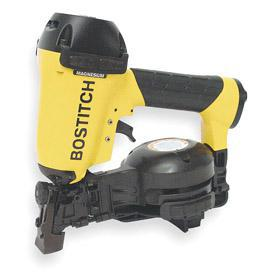 Bostitch Air-Powered Roofing Nail Gun: For 15° Nail Collation Angle, For Coil, For Roofing Nails, For 3/4 in Min Nail Lg