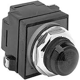 GE Pilot Light Complete Unit: 120V AC, Full Volt, Pressure Plate, For 130 V, For 120 V AC, 2 Haz Material Indicator, Plastic