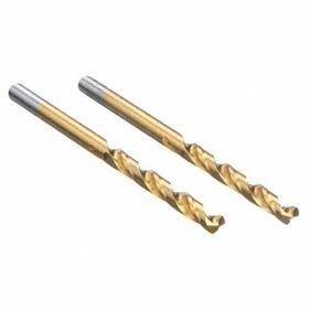 DeWalt Jobbers-Length Twist Drill Bit: Parabolic Flutes, High Speed Steel, 130° Point Angle, Split, Long Life TiN, 30° Helix Angle
