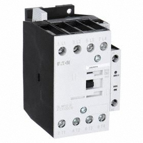 Eaton IEC Magnetic Contactor: 4 Poles, Single/Three Phase, 18 A Current Rating, 24V DC Control Volt, Silver Alloy