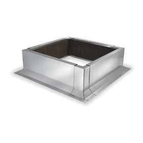 Adjustable Width Roof Curb: Adj Wd Size Type, 6 3/8 in Curb Ht, Non-Insulated Metal, Concrete, Wood, Asphalt & Tar, Canted, 19 1/2 to 28 in