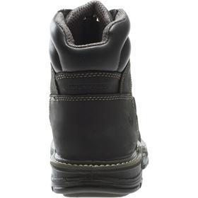 Wolverine Leather Work Boot: Men, Composite, 6 in Shoe Ht, Waterproof Full Grain Leather With ArmorTek, Black, Waterproof, 1 PR