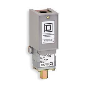 Schneider Electric Industrial Indoor Pressure Switch: Air/Hydraulic Oils/Non-Corrosive Gas/Non-Corrosive Liquids, 75 psi Max Deactuation Pressure
