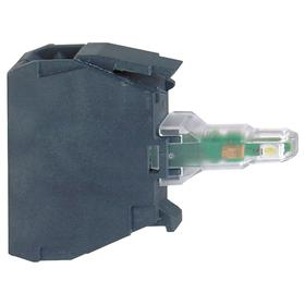 Schneider Electric Lamp Module with Bulb: For Schneider Electric 22mm Operators (ZB4, ZB5), 12V AC/DC, Includes Bulb, Green