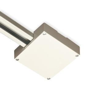 Eaton Track Light Connector: 4 in Overall Lg, White, Polycarbonate, CSA Listed_UL/cUL Listed, T-Bar Ceiling Outlet Box