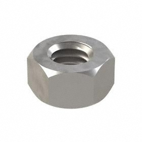 "Hex Nut: Steel, Plain, Grade 5 Material Grade, 5/16""-18 Thread Size, 1/2 in Wd, 9/32 in Ht, 100 PK"
