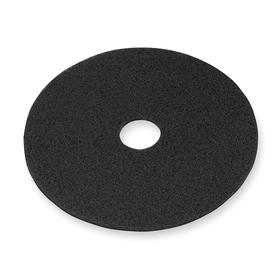 3M Floor Cleaning Pad: Stripping, Black, Wet, For 13 in Machine Size, 5 PK