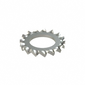 External Tooth Lock Washer: 18-8 Stainless Steel, For M6 Screw Size, 6.4 mm Max ID, 11 mm Max OD, 50 PK