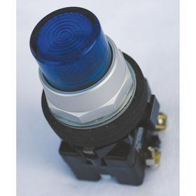Eaton Illuminated Push Button: 12 A @ 600V AC Contact Rating, Half Guard Operator, 1NO/1NC Pole-Throw Configuration, Blue