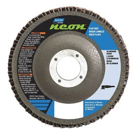 Norton Flap Disc: Unthreaded Center Hole, Coarse Relative Grit Grade, 5 in Disc Dia, 7/8 in Center Hole Dia, 36 Grit