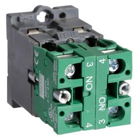 Lamp Module & Contact Block: For Plastic Operators, 1.57 in Overall Lg, Red, 2 Haz Material Indicator, LED, (1) Contact Block