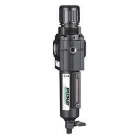Filter/Regulator: 40 micron Filter Rating, Non Rising, Manual, Relieving, Metal, For 1/4 in Pipe Size, 8.7 in Overall Ht