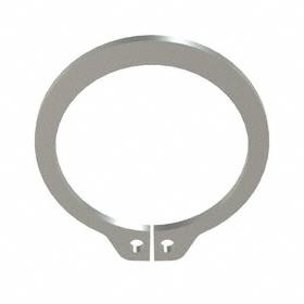 External Retaining Ring: Stainless Steel, Plain, SH-62 Ring, For 5/8 in Shaft Dia, For 0.588 in Groove Dia, 10 PK