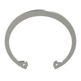 Internal Retaining Ring: Stainless Steel, Passivated, HO-212 Ring, For 2 1/8 in Bore Dia, For 2.251 in Groove Dia