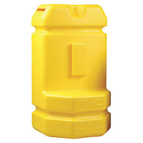 Blade Disposal Container: Wall Mount with Bracket, Plastic, 6 1/2 in Overall Ht, 3 1/2 in Overall Wd